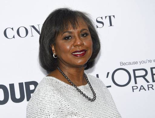 FILE - In this Nov. 13, 2017 file photo, Anita Hill attends the 2017 Glamour Women of the Year Awards at Kings Theatre in New York. Hill is meeting with more than 100 entertainment industry representatives Friday, Dec. 8, 2017, to discuss sexual harassment and how the scandal sparked by harassment and sexual abuse allegations against film mogul Harvey Weinstein can be turned into broad and sustained cultural change. (Photo by Evan Agostini/Invision/AP, File)