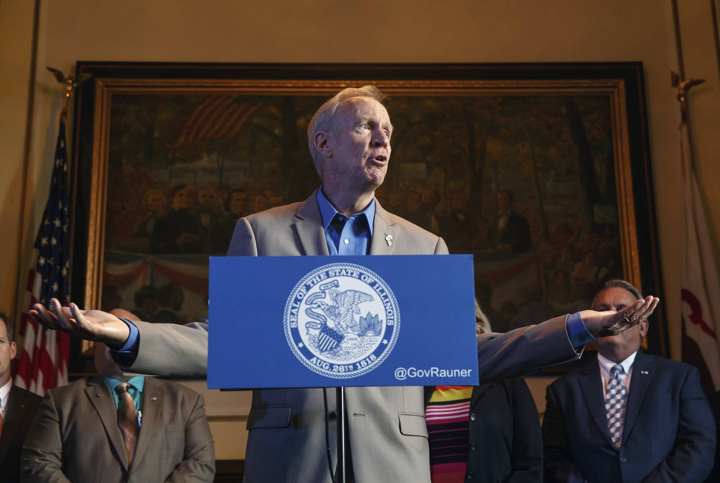 Not in charge? Rauner's foes pounce on his remark
