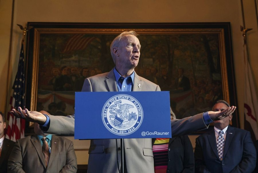 "Gov. Bruce Rauner stands by his remark that he's ""not in charge,"" saying House Speaker Michael Madigan needs to be out of office."
