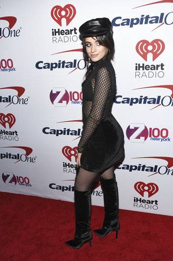 Camila Cabello attends Z100's iHeartRadio Jingle Ball at Madison Square Garden on Friday, Dec. 8, 2017, in New York. (Photo by Charles Sykes/Invision/AP)