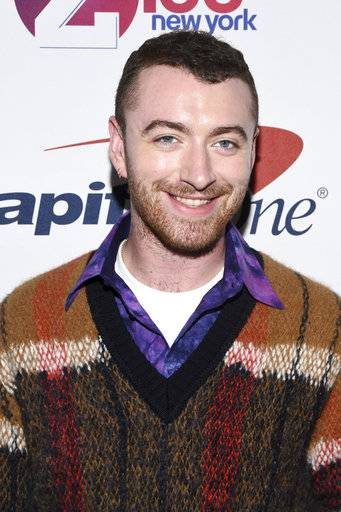 Sam Smith attends Z100's iHeartRadio Jingle Ball at Madison Square Garden on Friday, Dec. 8, 2017, in New York. (Photo by Charles Sykes/Invision/AP)