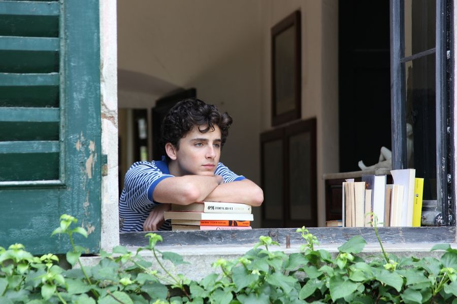 "Timothée Chalamet stars in ""Call Me By Your Name."""