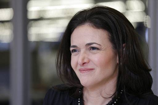"Facebook chief operating officer Sheryl Sandberg is photographed at the company's headquarters in Menlo Park, Calif. Some women, and men, worry that the same climate that's emboldening women to speak up about harassment could backfire by making some men wary of female colleagues. Sandberg recently wrote that she hoped the outcry over misconduct doesn't ""have the unintended consequence of holding women back."""