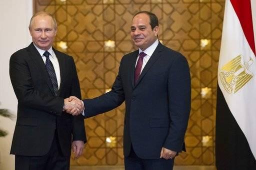 Russia's Putin lands in Egypt in sign of growing ties
