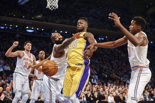 Porzingis, Beasley help Knicks edge Lakers 113-109 in OT