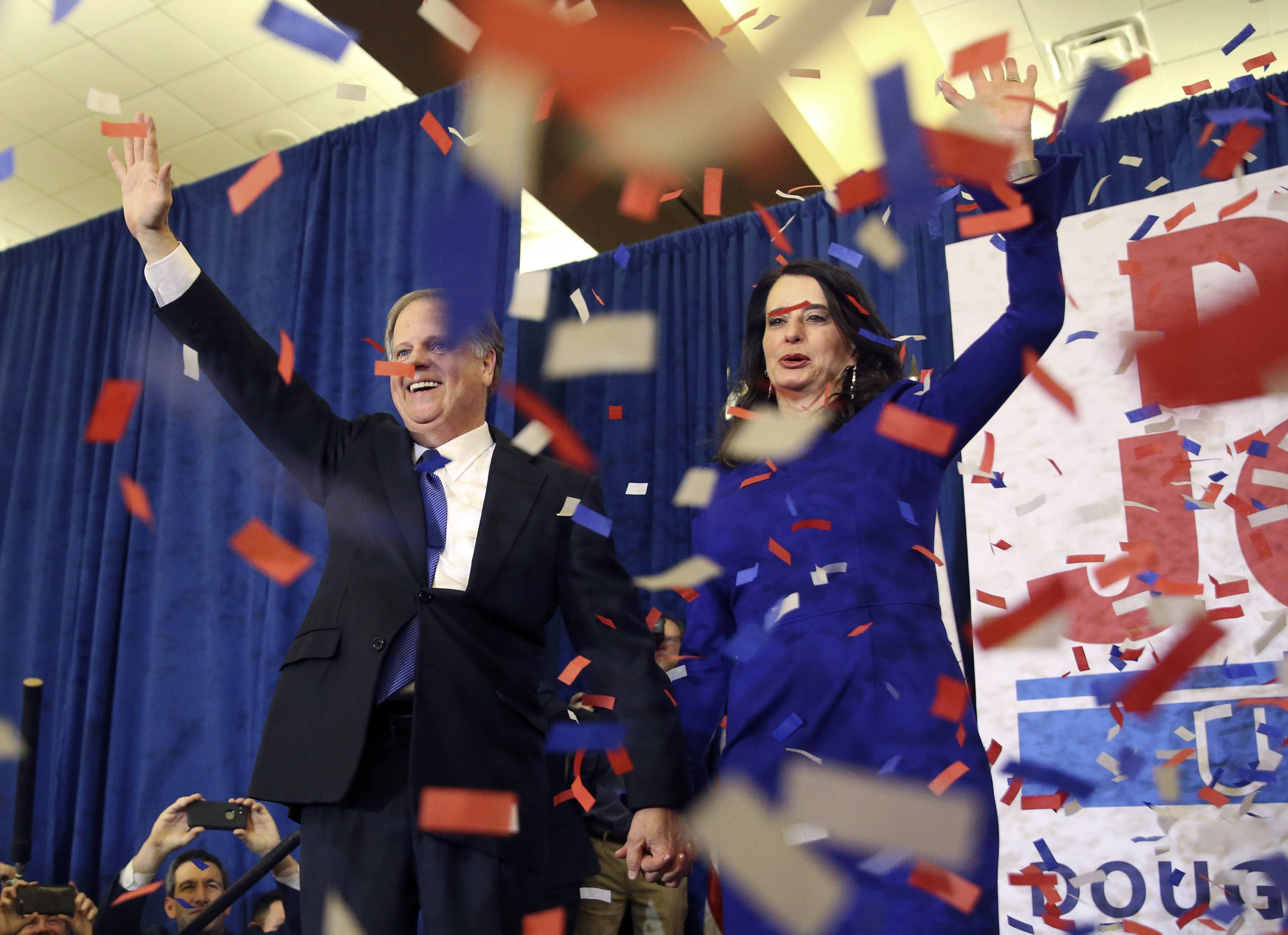 In a stunning victory aided by scandal, Democrat Doug Jones won Alabama's special Senate election on Tuesday, beating back history, an embattled Republican opponent and President Donald Trump, who urgently endorsed GOP rebel Roy Moore despite a litany of sexual misconduct allegations.