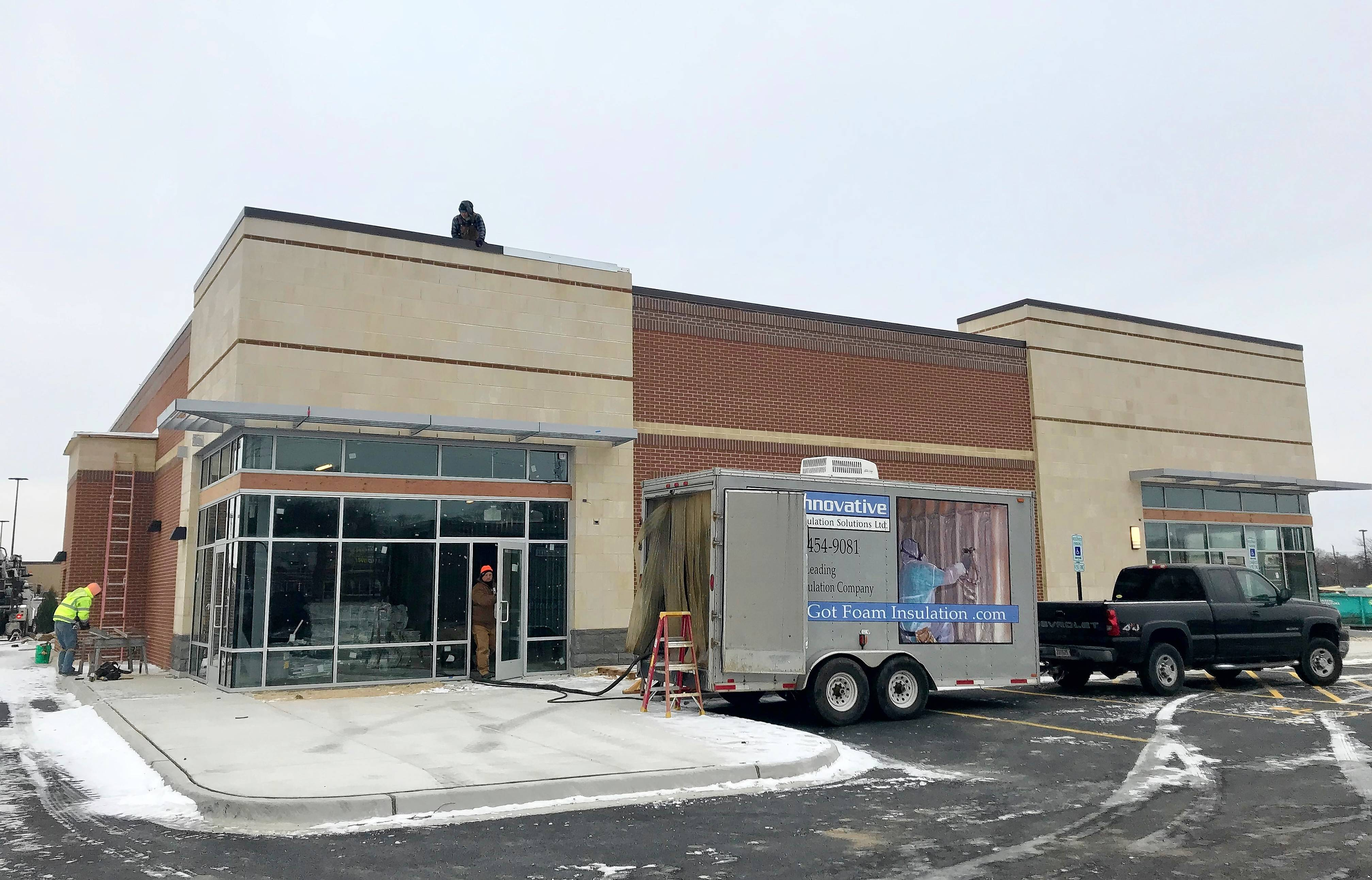 An Athletico Physical Therapy center and a Wingstop fast-casual restaurant have been confirmed for a new five-tenant building being constructed on an outlot of Carpentersville's Walmart.