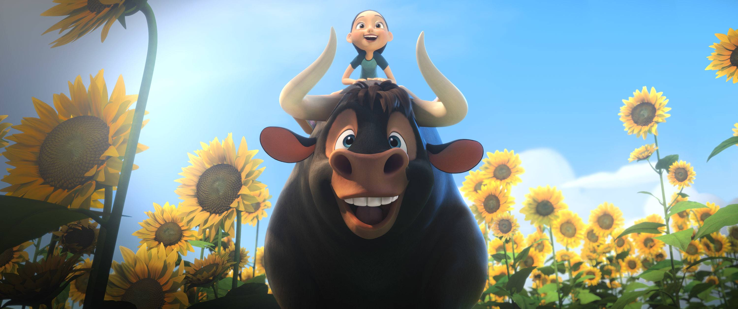 "A pacifist bull escapes to a flower farm in ""Ferdinand."""