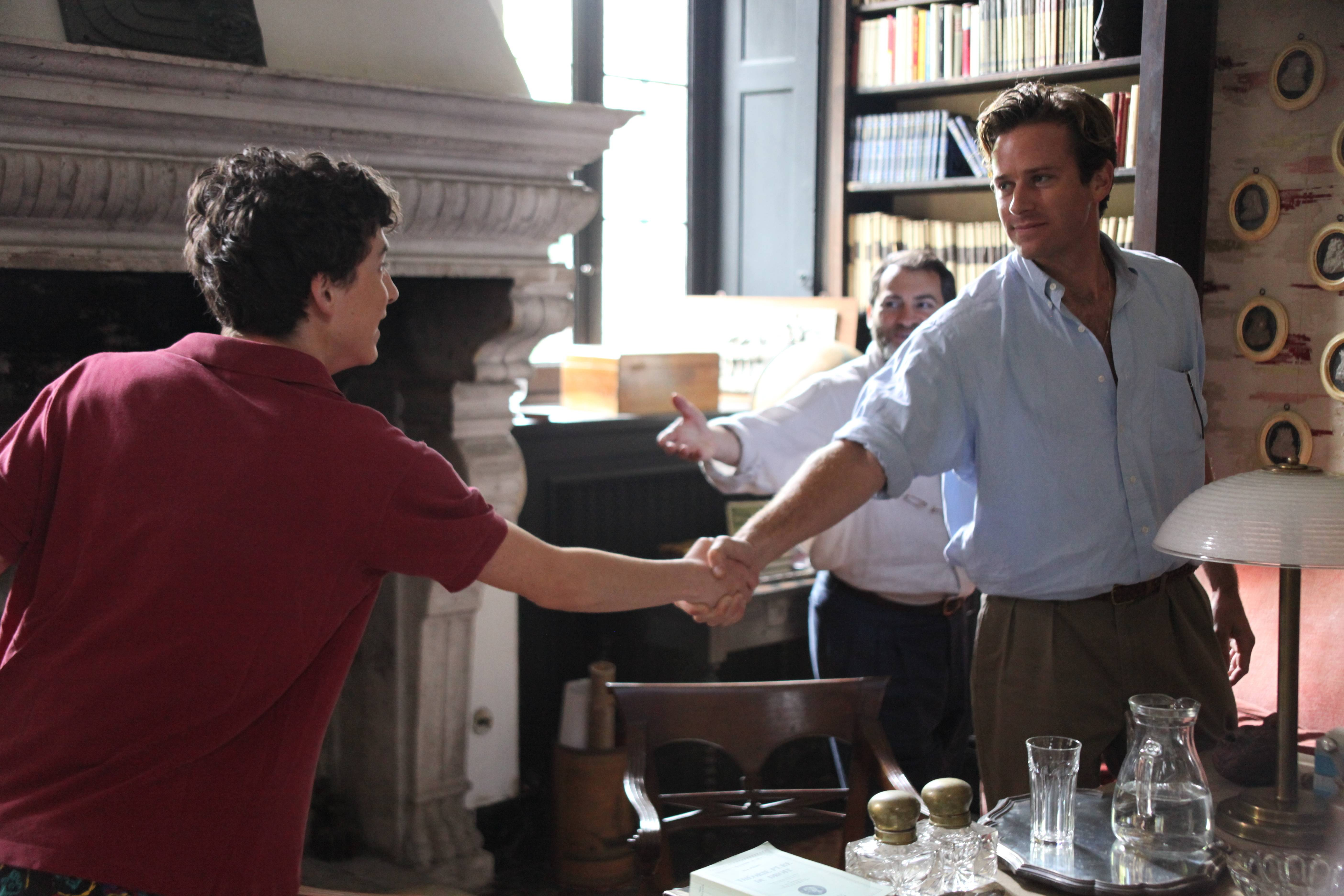 "Elio (Timothée Chalamet), left, falls for an American grad student (Armie Hammer) in Italy in ""Call Me By Your Name."""