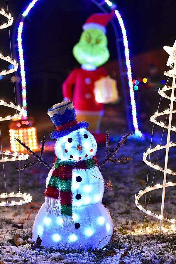 Each home on Juniper Lane in South Elgin has a display of Christmas lights and decorations.