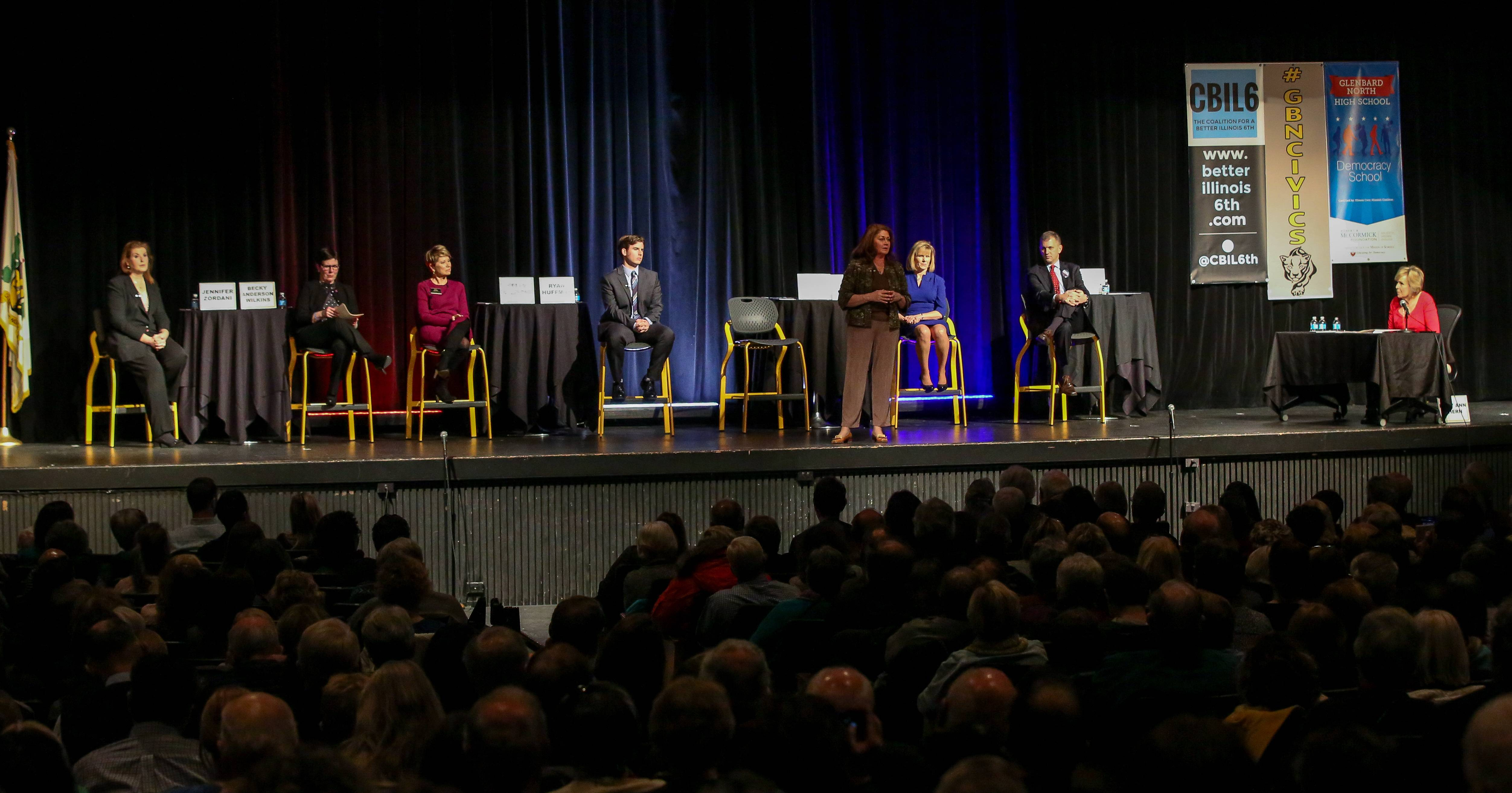 All seven Democrats who want the party's nomination to seek the 6th District seat in U.S. Congress met together in public for the first time this week for a forum in Carol Stream hosted by the Coalition for a Better Illinois 6th and the Glenbard North High School Civics Club.