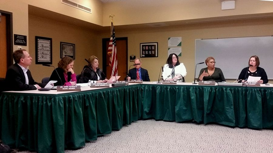 Woodland Elementary District 50 board held a special meeting Thursday to discuss their policy on teaching controversial subjects, in the wake of reaction to a middle school lesson about Hitler and the rise of Nazi Germany.
