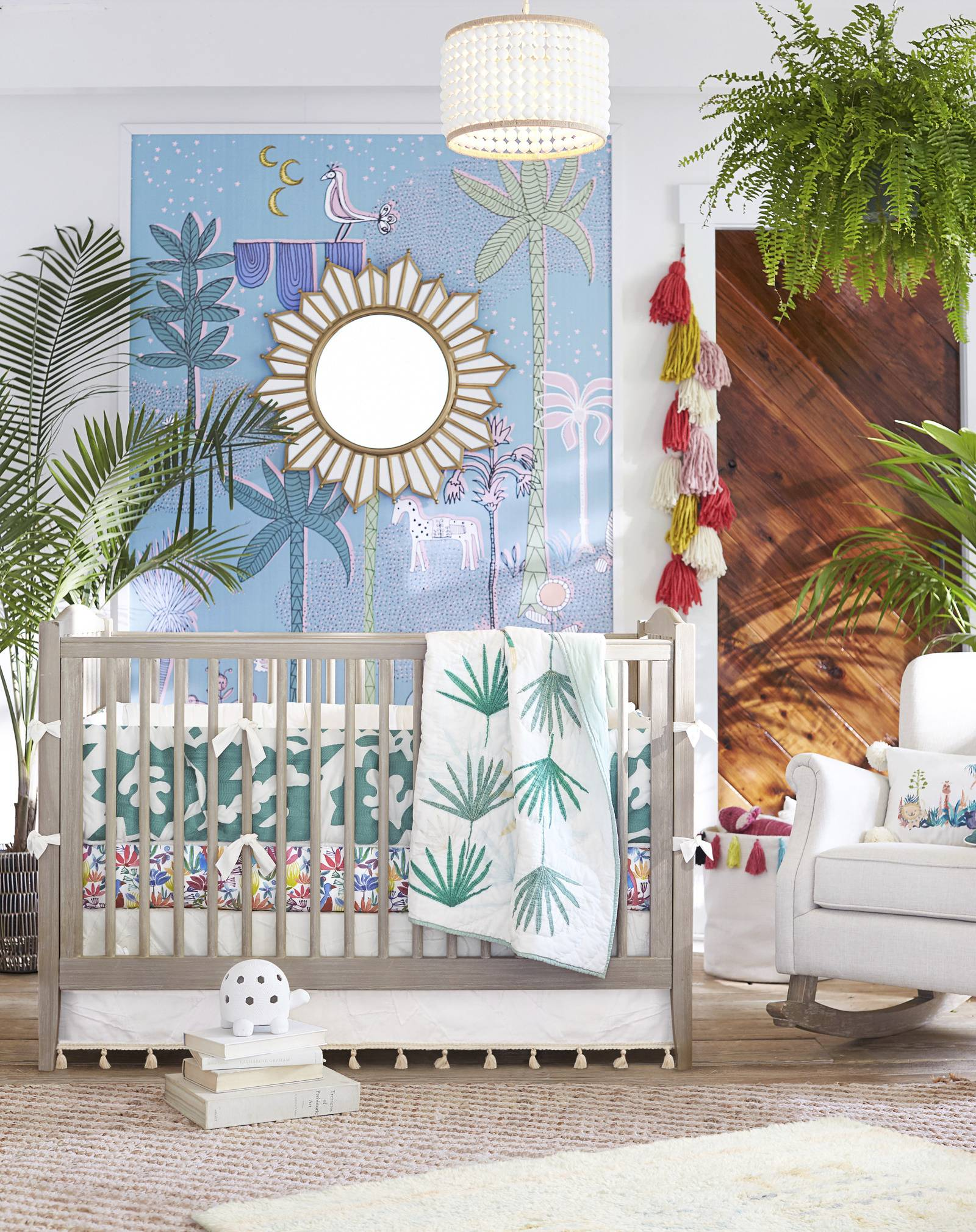 Designer and author Justina Blakeney brings her imaginative, eclectic and playful style to Pottery Barn Kids. Bold colors and hand-drawn patterns are part of Blakeney's signature bohemian style, inspired by her travels and love of nature.