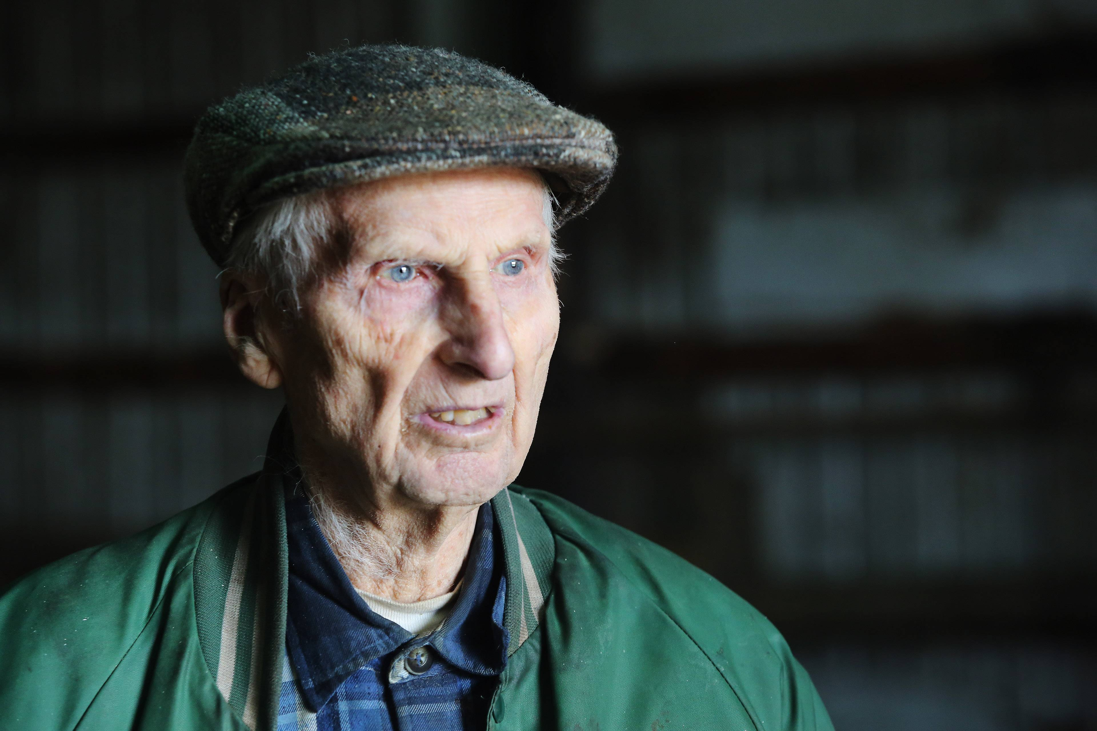 Harold Bergman, 99, says he's adjusting to the idea of retiring from farming as he prepares for the sale of his equipment and personal items, making way for the farm to become a Hoffman Estates housing development.