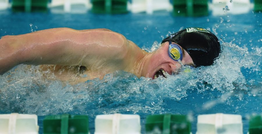 Stevenson's Ethan Ross swims the 200-yard freestyle during the Lake County Invitational at Stevenson on Saturday.