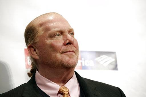 "FILE - In this Wednesday, April 19, 2017, file photo, chef Mario Batali attends an awards event in New York. Batali has issued an apology to his newsletter subscribers for his sexual misconduct against women, but he confounded some by ending his message with a recipe for a ""holiday-inspired breakfast.� Batali was immediately blasted on social media for including in the Friday, Dec. 16 email the ""Pizza Dough Cinnamon Rolls� recipe after his apology for making ""many mistakes.�(Photo by Brent N. Clarke/Invision/AP, File)"