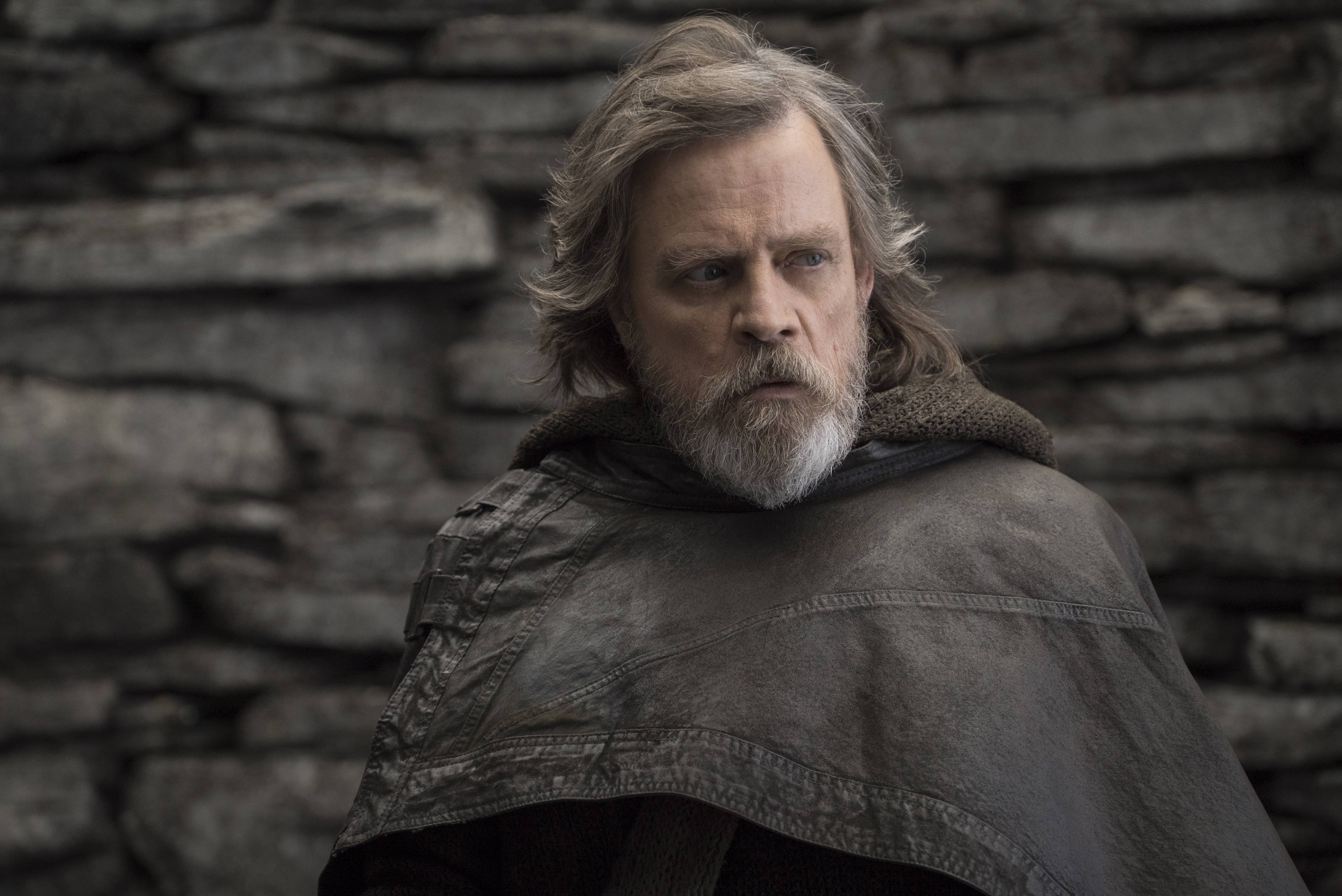 "Mark Hamill returns as Luke Skywalker in ""Star Wars: The Last Jedi."""