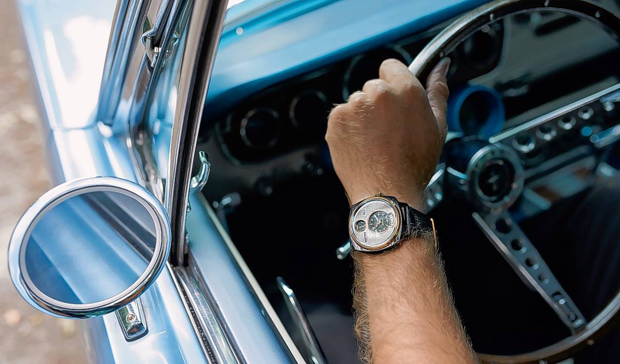 Salvaged Ford Mustangs are being transformed into unique timepieces.