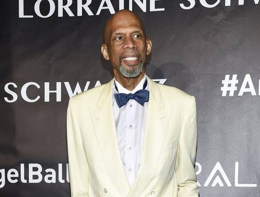 CORRECTS EVENT NAME FROM JAZZ CONFERENCE TO JAZZ CONGRESS - FILE - In this Oct. 23, 2017 file photo, Kareem Abdul-Jabbar attends the Angel Ball in New York.Abdul-Jabbar will be the keynote speaker for the first annual Jazz Congress, to be held on Jan. 11 in New York. (Photo by Evan Agostini/Invision/AP, File)