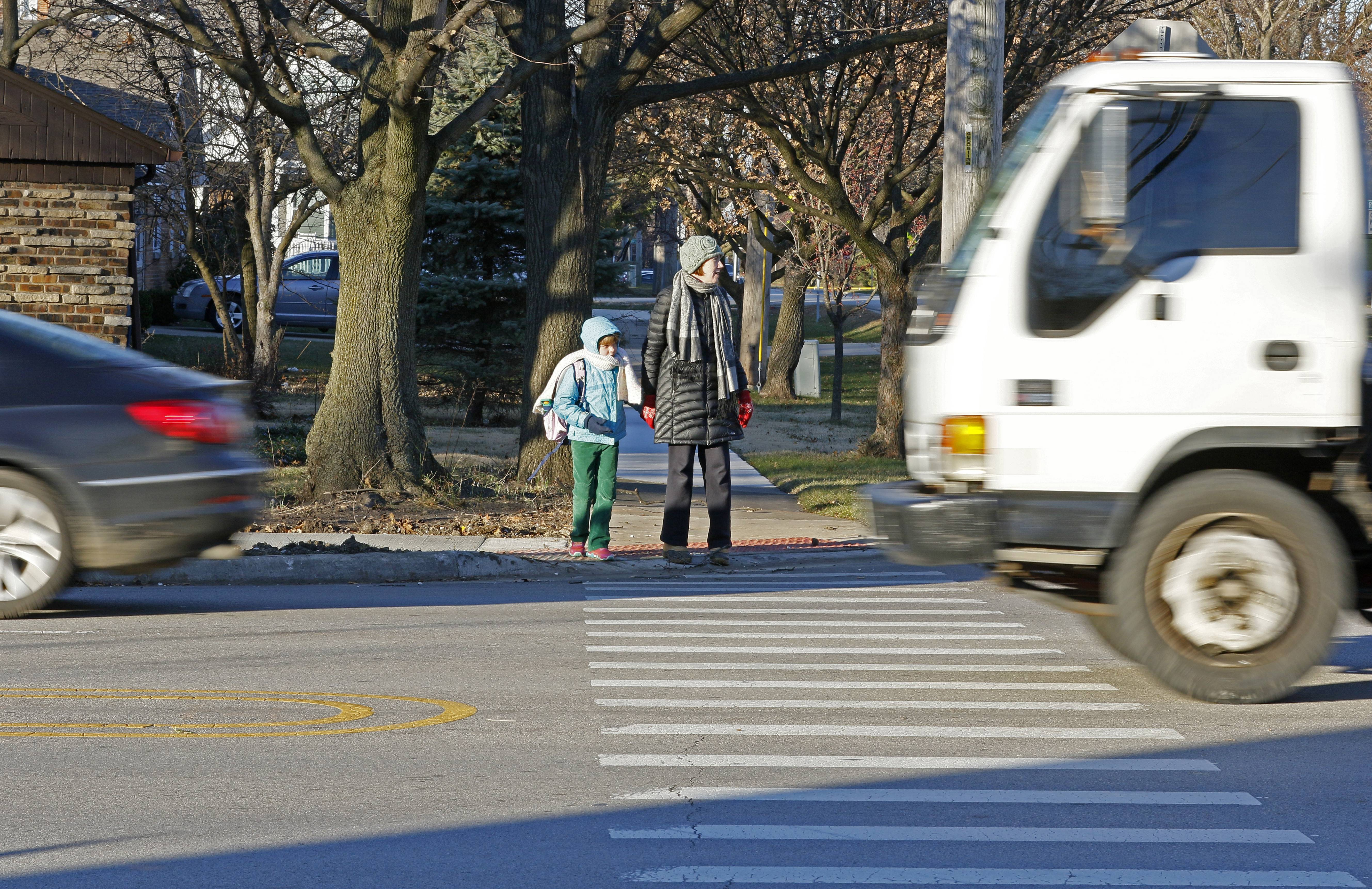 Walk at your own risk: Drivers oblivious to suburban crosswalks