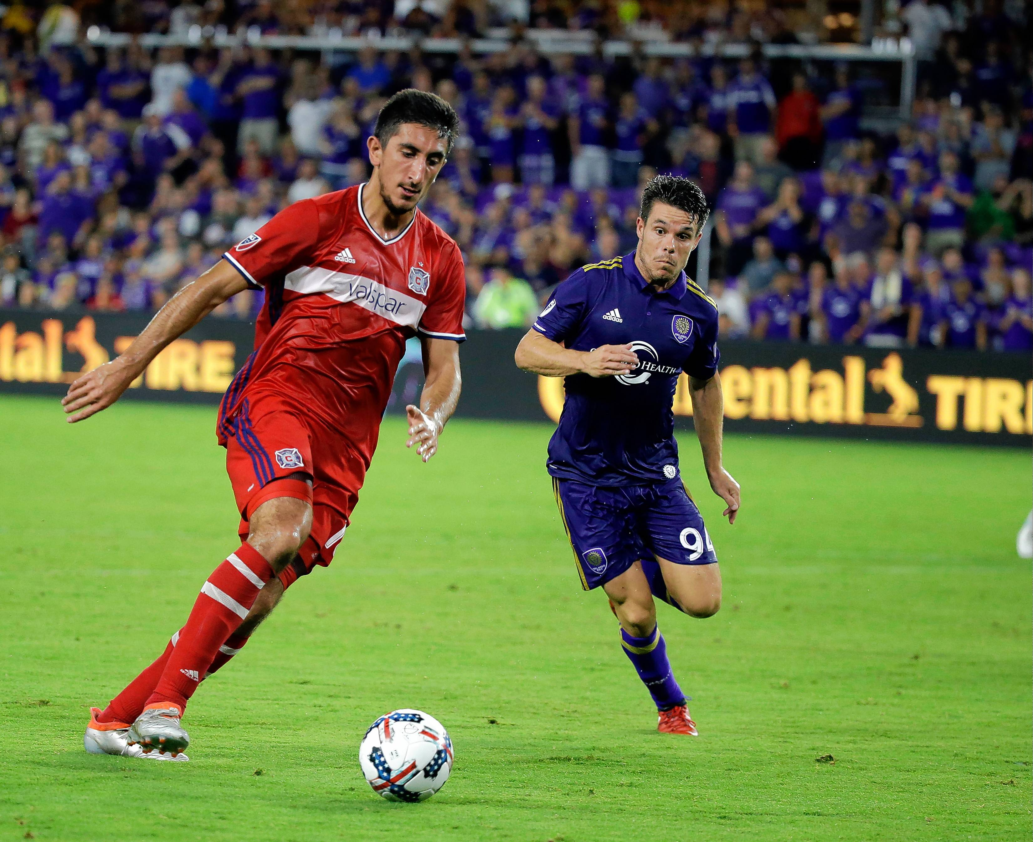 In 16 regular-season appearances since he was signed in August 2016,, Chicago Fire forward David Arshakyan, left, failed to score a goal.