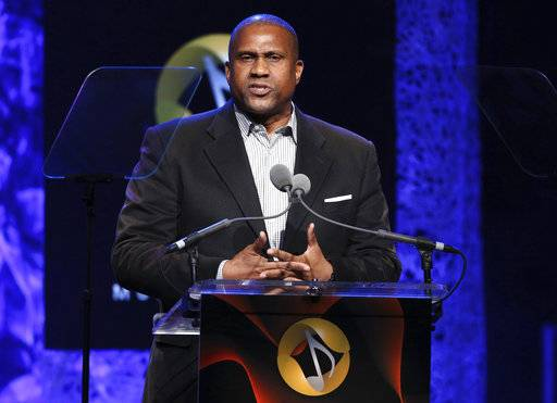 "FILE - In this April 27, 2016 file photo, Tavis Smiley appears at the 33rd annual ASCAP Pop Music Awards in Los Angeles. PBS says it has suspended distribution of Smiley's talk show after an independent investigation uncovered ""multiple, credible allegations� of misconduct by its host. (Photo by Rich Fury/Invision/AP, File)"