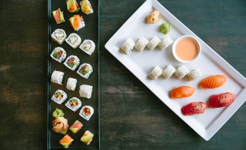 An assortment of sushi from Reel Club