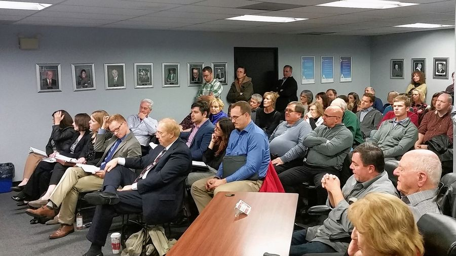 Every seat again was filled before the Lake Zurich planning and zoning commission Wednesday night during a discussion of a proposal for a new Life Time Fitness in the village.