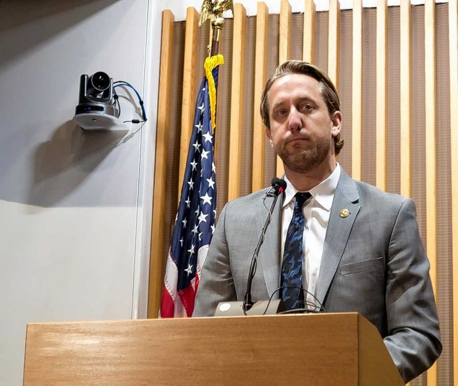 "Lake County Board Chairman Aaron Lawlor said the opioid epidemic ""is a behavorial health issue, a mental health issue, and it is the greatest moral imperative that our leaders have to answer."""