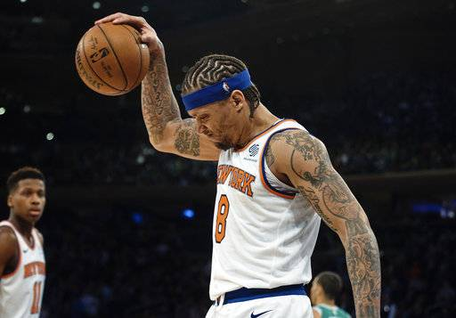 New York Knicks  Michael Beasley (8) celebrates after pulling a rebound  during the b7ecb6db3