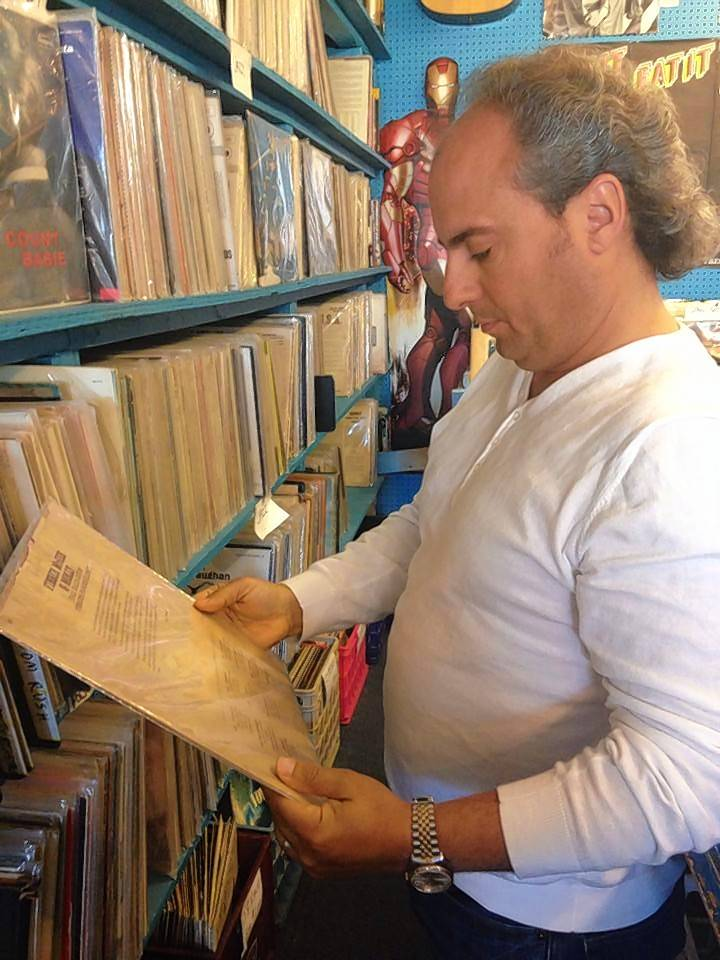 Ron Onesti shops for vinyl record albums. The thrill of holding a musical product in a hand cannot be replicated with a download, and the inconsistent, grainy sound of an album gives each record its own unique personality.
