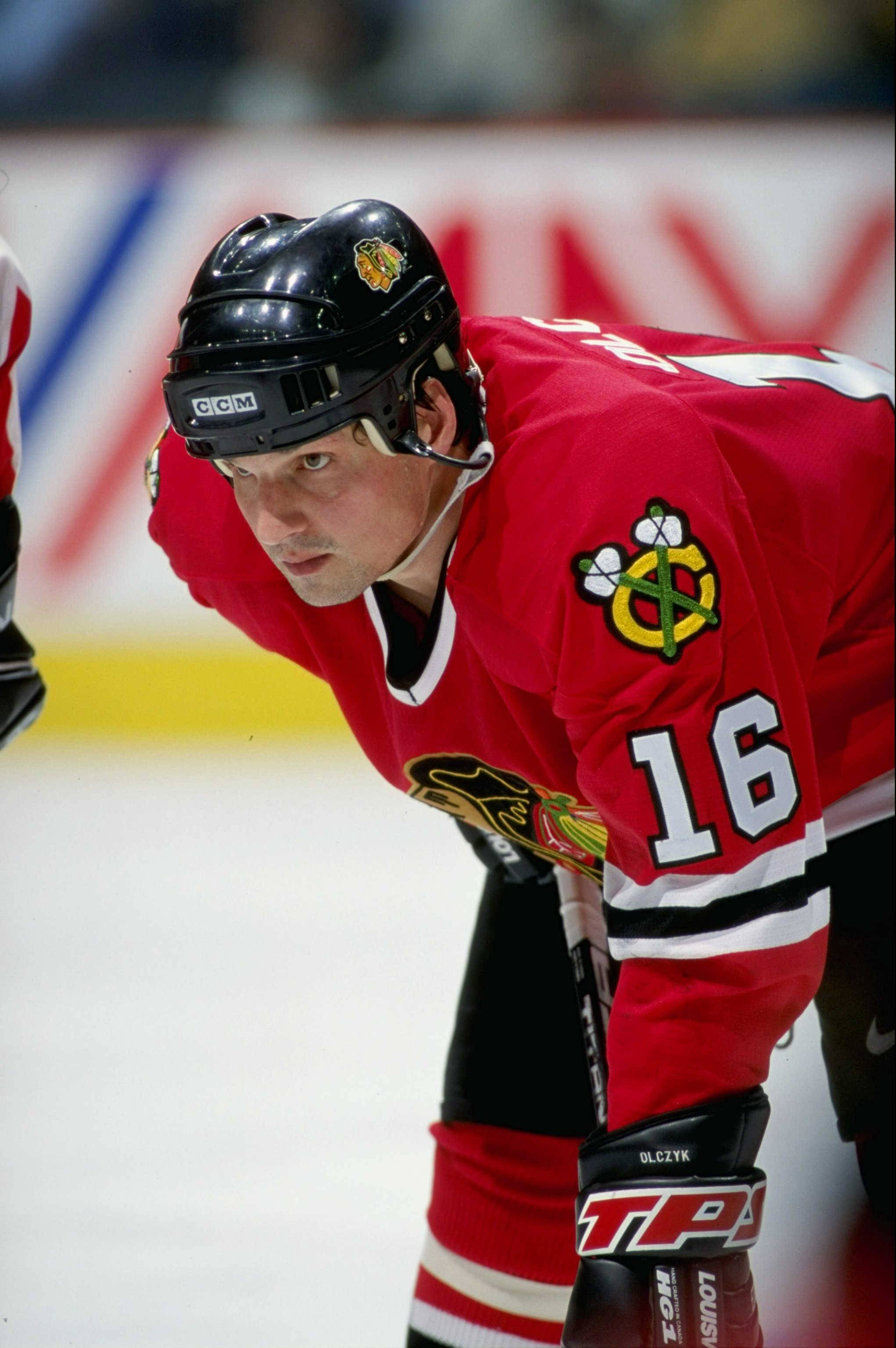 COURTESY OF THE CHICAGO BLACKHAWKS	Eddie Olczyk started and finished his career as a Blackhawks player. Today he's a beloved TV commentator.