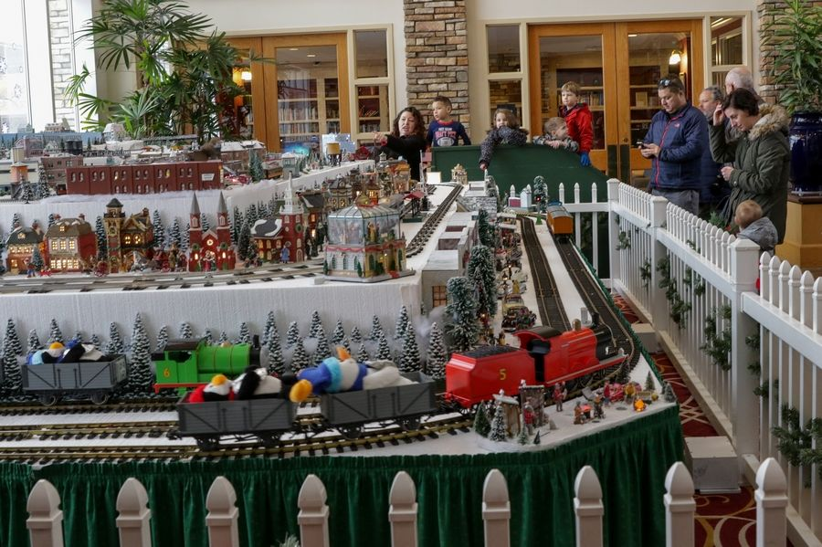 The layout, set up by the Kishwaukee Valley and Eakin Creek Model Railroad Club of Sun City, took more than two days to set up. The club has about 50 members.