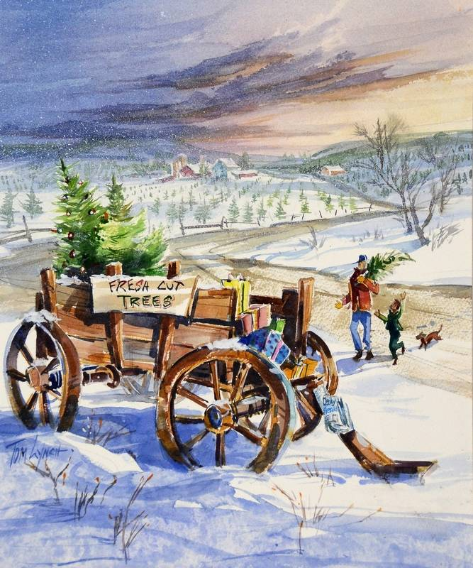 Celebrating 25 Years Of Tom Lynch S Christmas Paintings In The Daily Herald