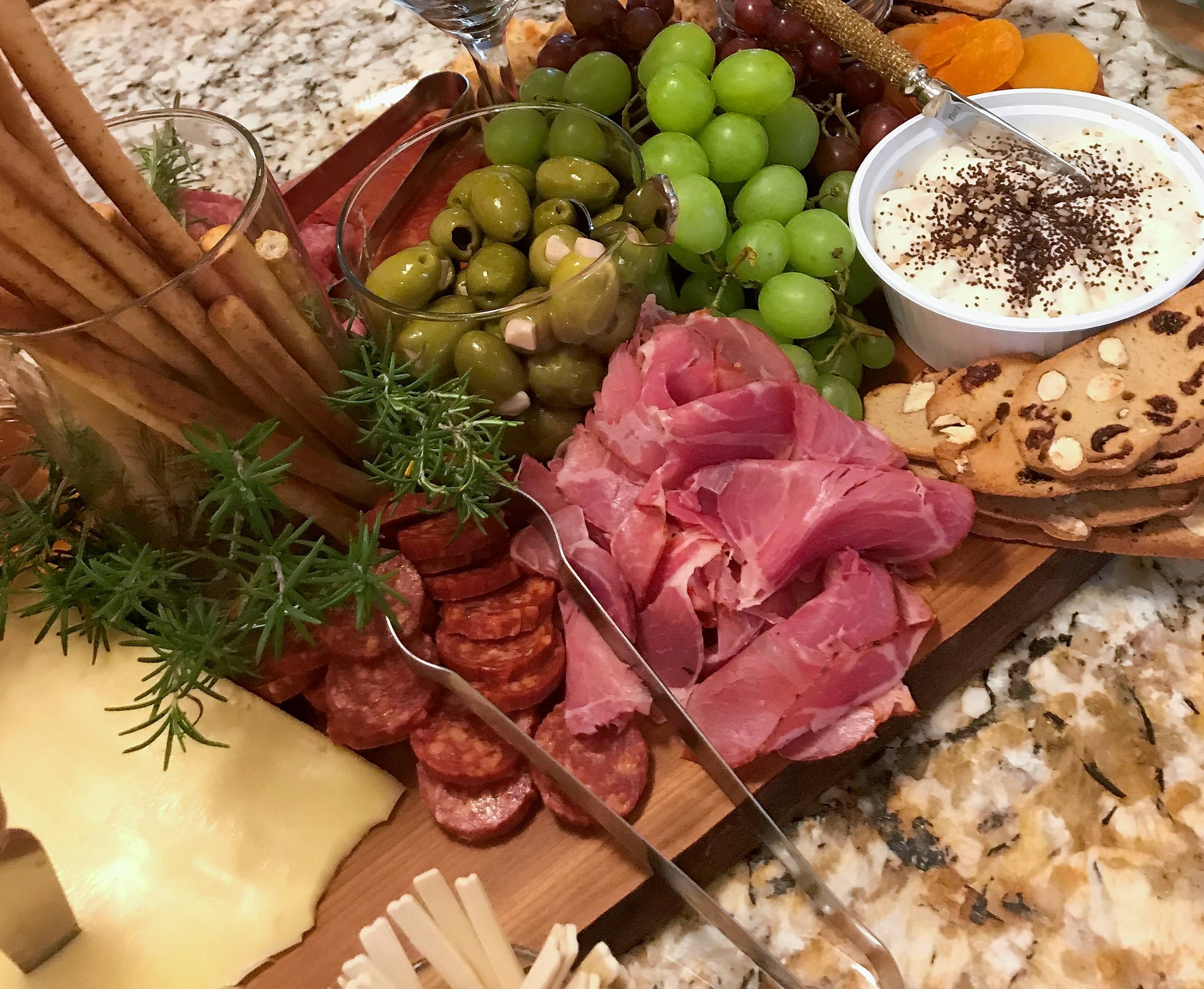 A delicatessen is a the perfect place to start when choosing items for your charcuterie board.