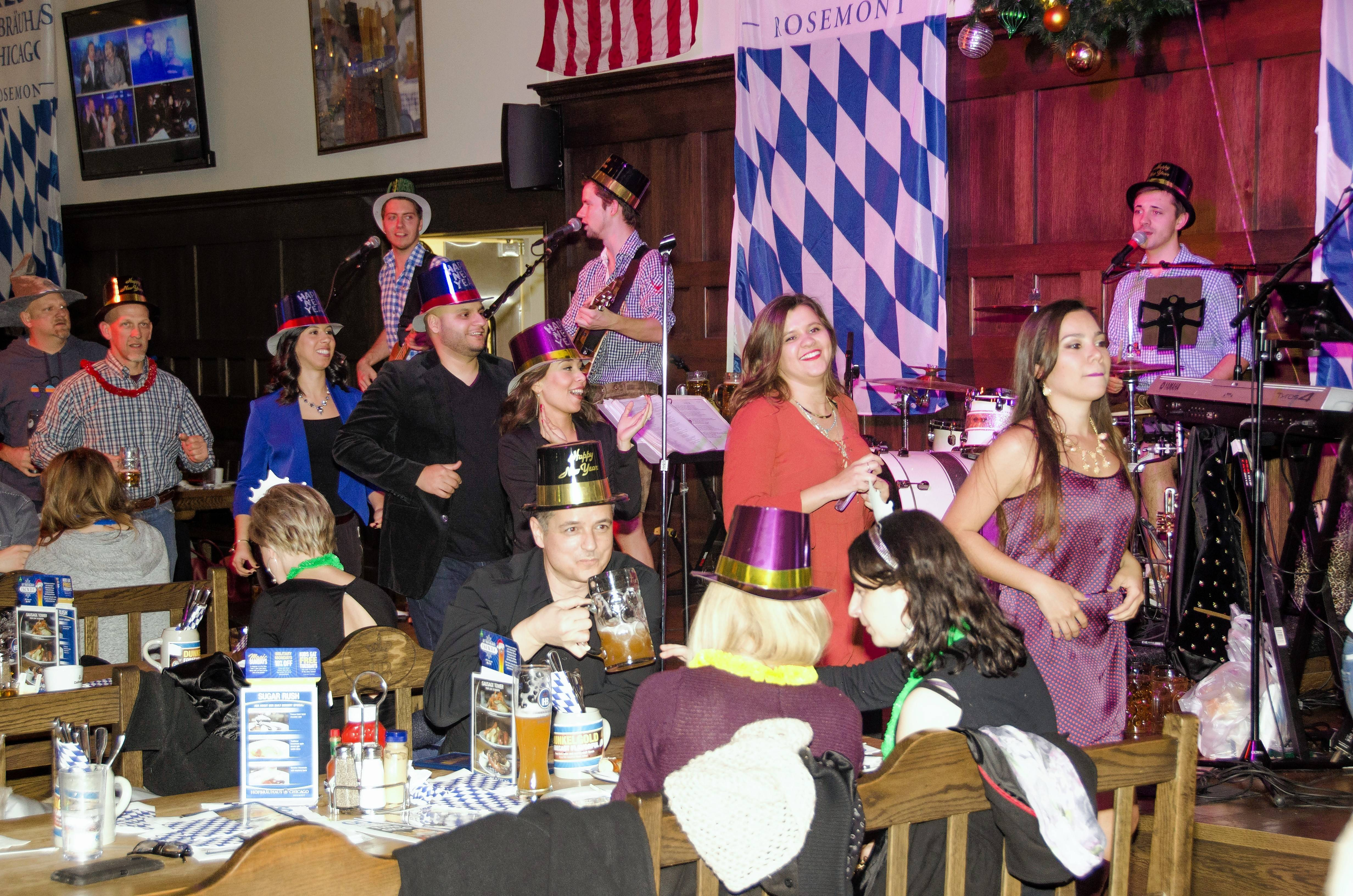 The music and beer will be flowing on New Year's Eve at Hofbrauhaus Chicago in Rosemont.