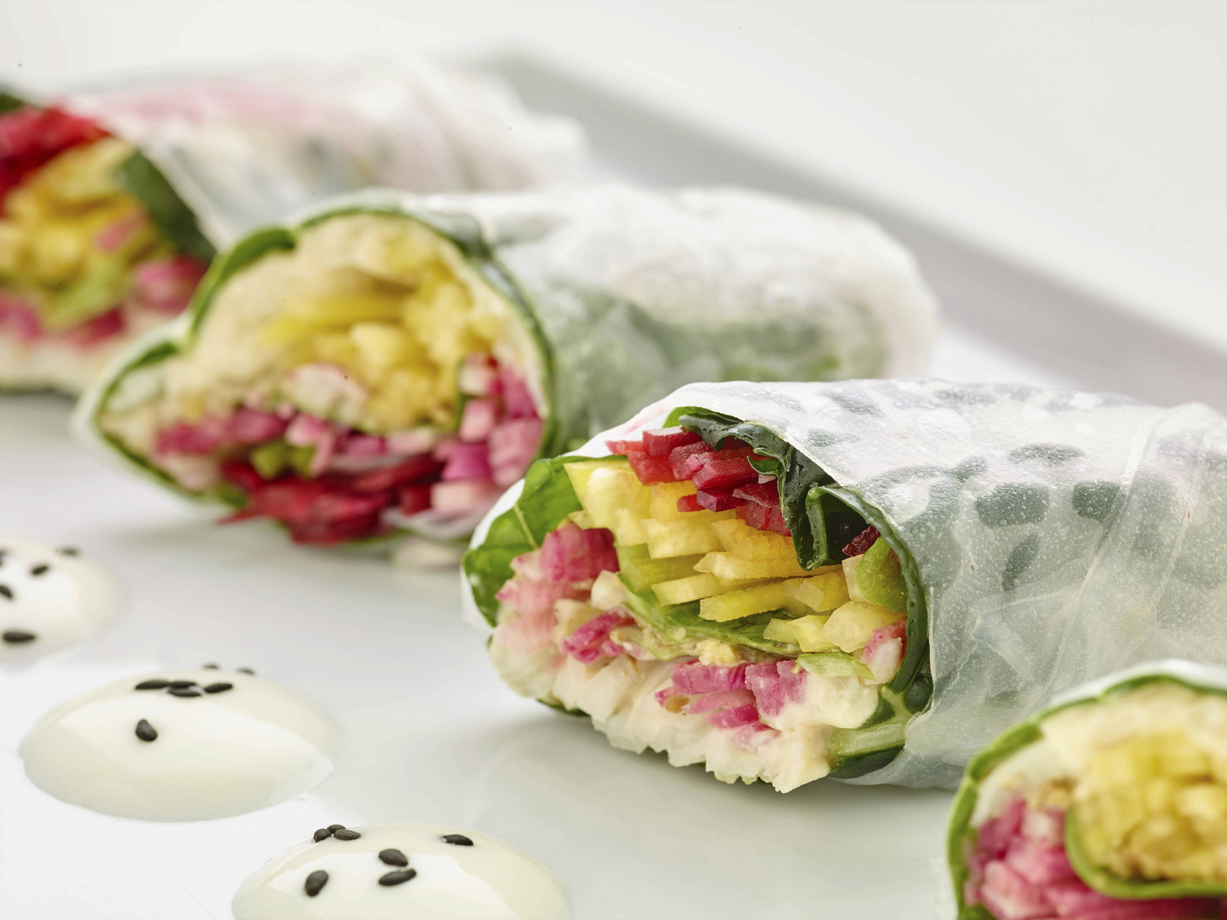 Veggie-filled spring rolls offer the perfect holiday detox