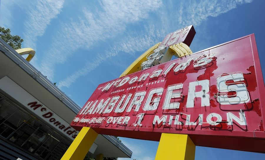 The McDonald's museum at 400 Lee St. in Des Plaines includes the original sign of founder Ray Kroc's first store. The company plans to preserve the sign, but tear down the 32-year-old replica building.