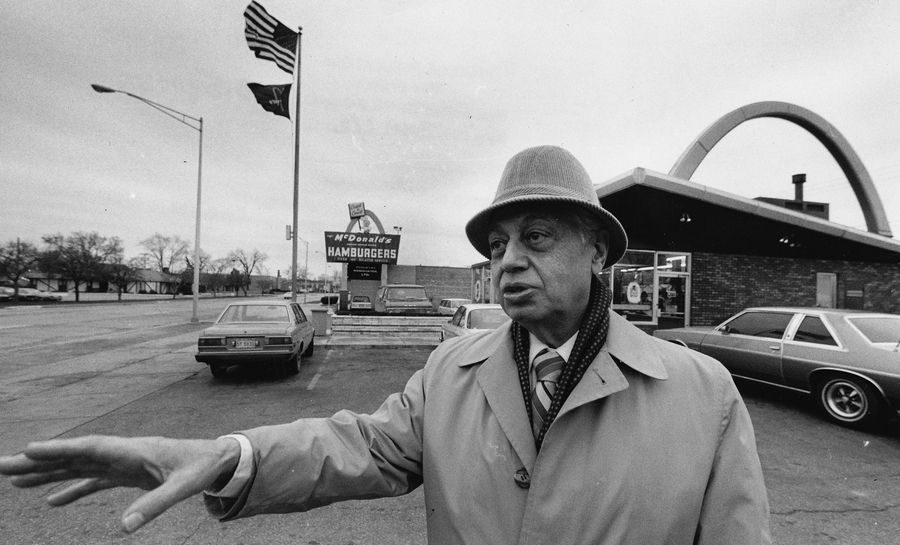 The first franchised McDonald's restaurant was started with the help of Frank Martoccio, a Des Plaines lawyer who owned the property where the restaurant was located. He regularly resisted Ray Kroc's offers to franchise locations of his own.