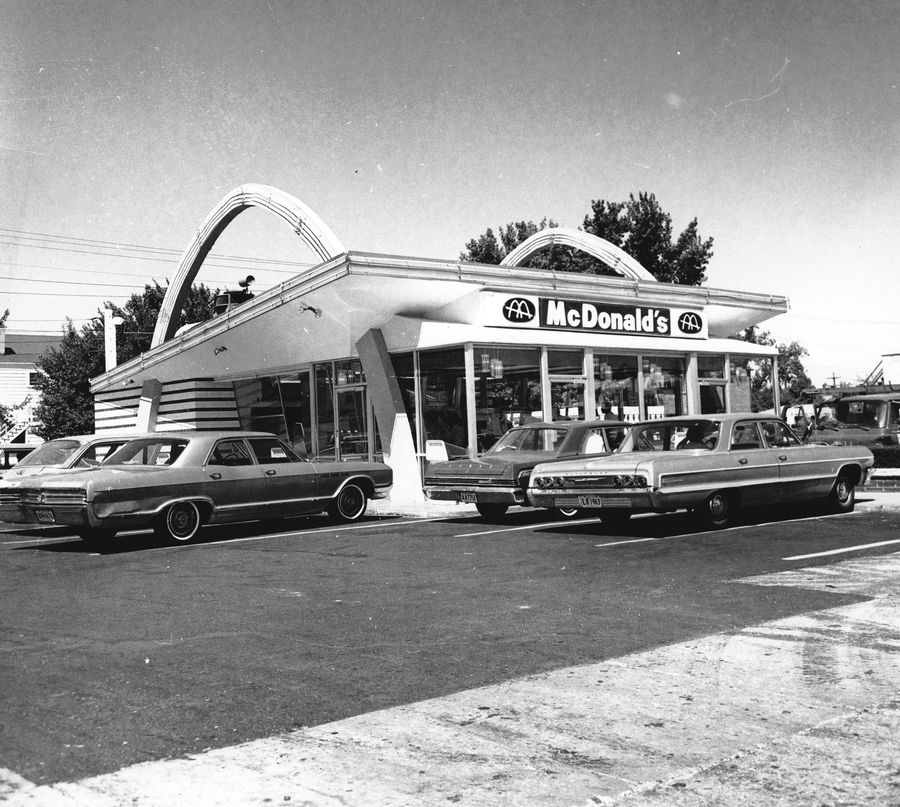 The original McDonald's at 400 Lee St. had been altered over the years to include an enclosed area for ordering and dining. The company closed the restaurant in 1983 because it had little room for seating or a drive-through.