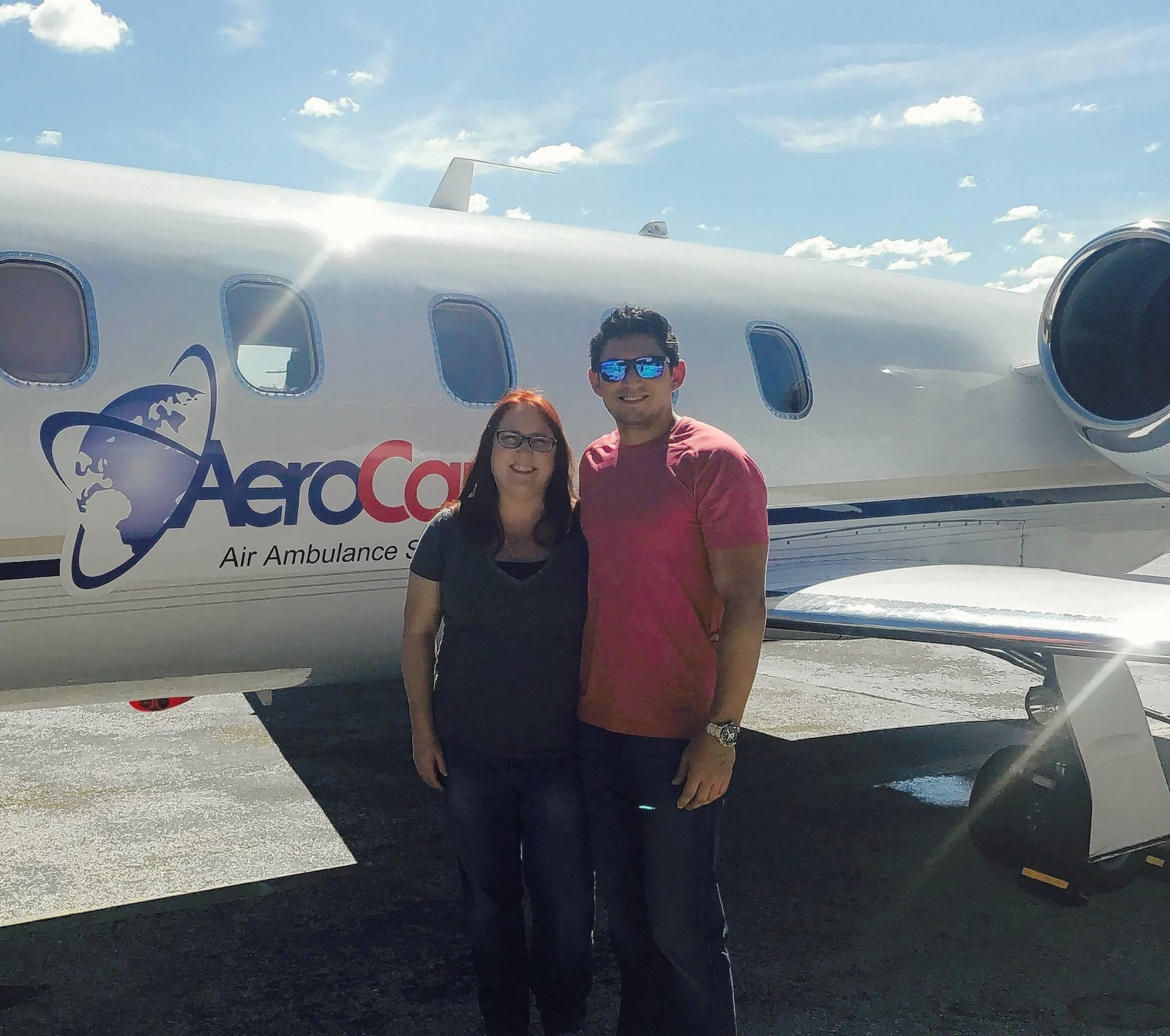 Nurse Camrai Damore and respiratory therapist Mark Puknaitis, who both work in Edward Hospital's Newborn Intensive Care Unit, traveled to St. Croix, U.S. Virgin Islands on a mission to provide medical relief to hurricane victims.