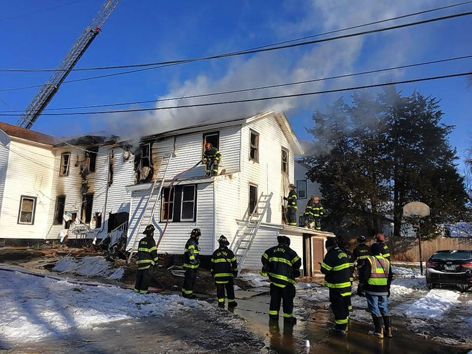 A home in the 400 block of Pierce Street in Aurora was left uninhabitable by a fire Sunday morning. Its seven residents are staying with relatives nearby, officials said.