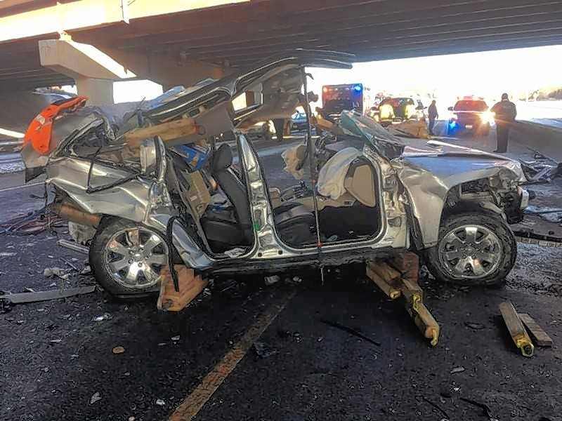 A man was in critical condition Sunday morning after the SUV he was driving plunged off an Interstate 290 bridge and fell 10 to 15 feet to the southbound lanes of Route 83 in Addison, authorities said.