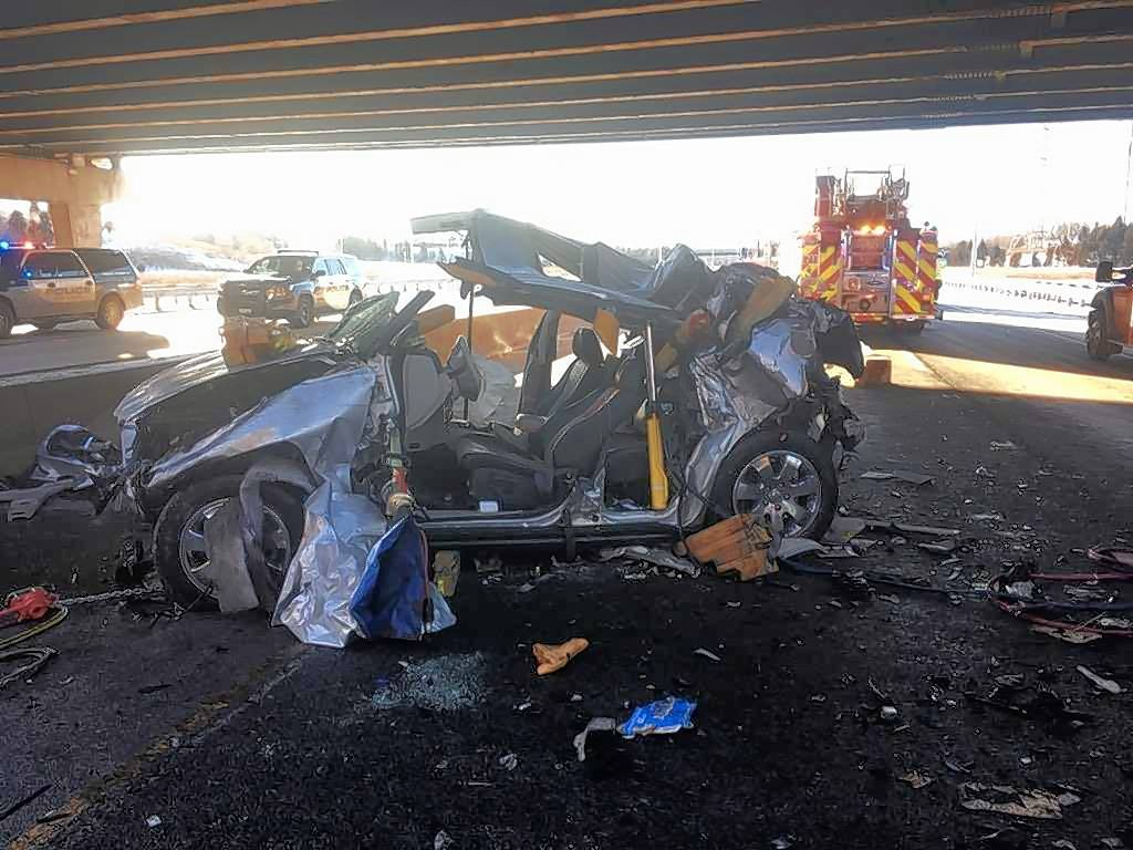 A driver suffered abdominal and pelvic injuries Sunday when the SUV he was driving plunged off an Interstate 290 bridge and fell 10 to 15 feet to the southbound lanes of Route 83 in Addison, authorities said.