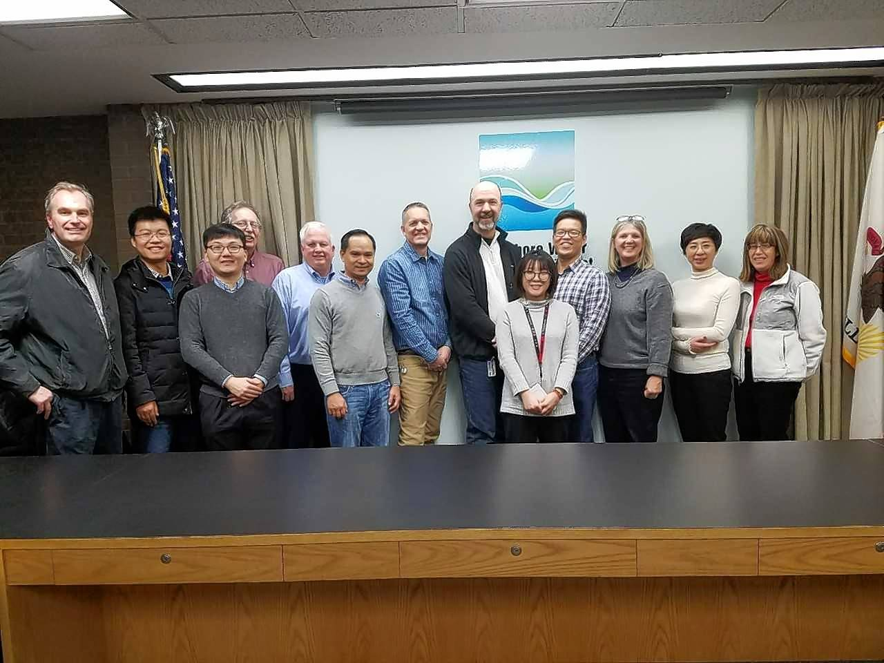 The Northshore Water Reclamation District in Gurnee hosted a group of Chinese engineers and managers from the Engineering Corporation of Water Environmental and Urban Infrastructure, a subsidiary of Chengdu Engineering Corporation.