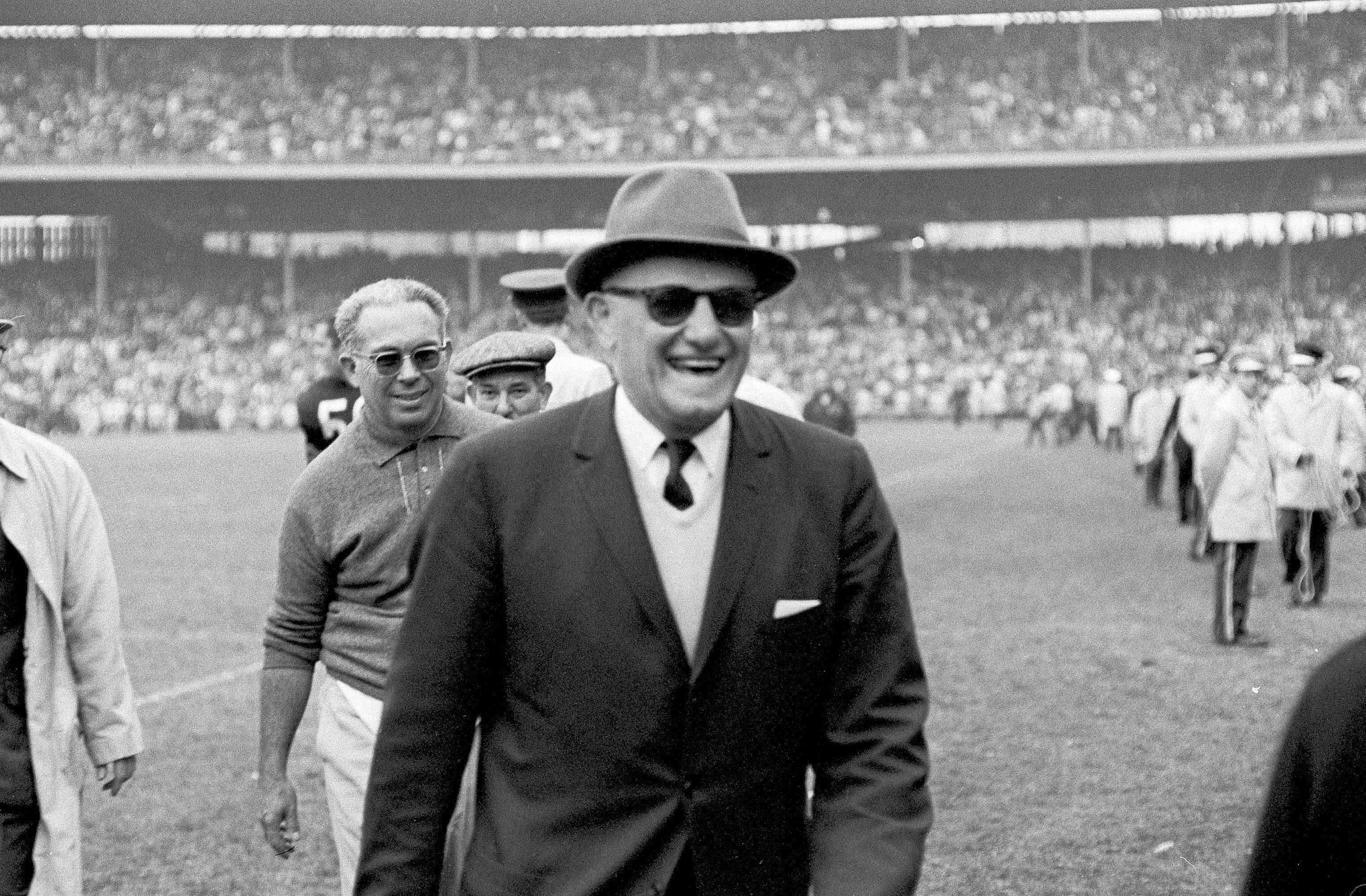 George Halas won 318 regular-season games as head coach of the Chicago Bears, posting a winning percentage of .682.
