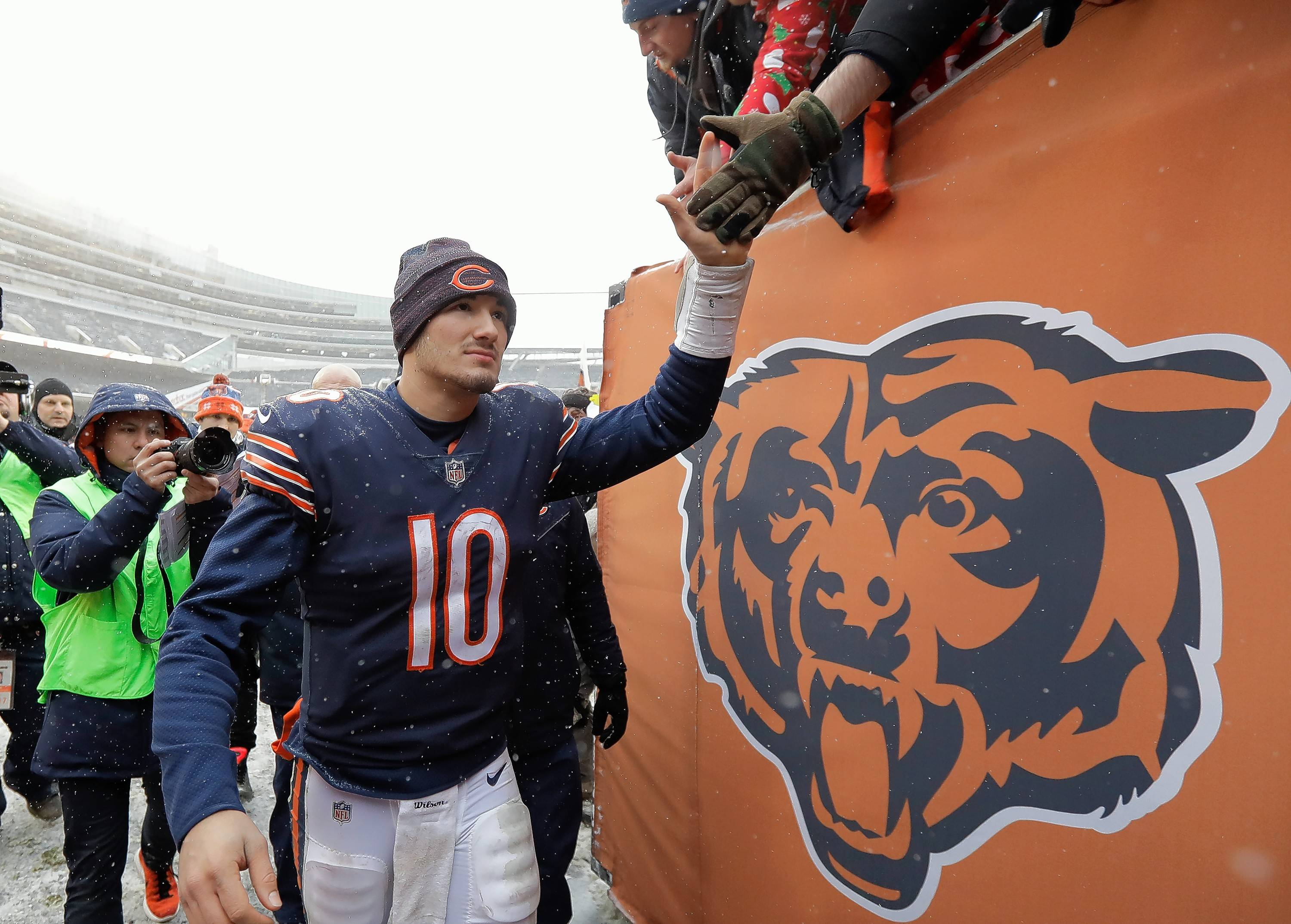 Chicago Bears rookie quarterback Mitchell Trubisky will head into his second NFL season with a new head coach following the firing of John Fox. (AP Photo/Charles Rex Arbogast)