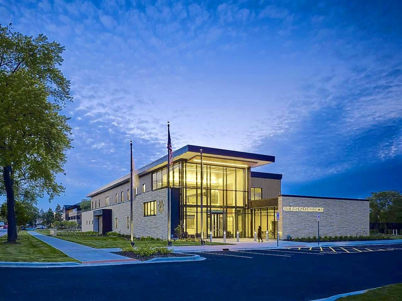 The Glen Ellyn Police Department in Glen Ellyn has been recognized with an Excellence in Architecture award from the American Institute of Architects NE-IL Chapter and a Silver Medal Award from the Association of Licensed Architects.