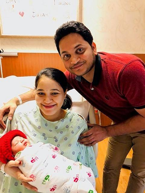 "At 12:32 a.m. Monday, mom Anusha Ankathi and dad Rakesh Kotla of Prospect Heights welcomed their first child, Aryansh, at Advocate Lutheran General Hospital in Park Ridge. Their newborn's name is a combination of the parents' names and means ""popular."""
