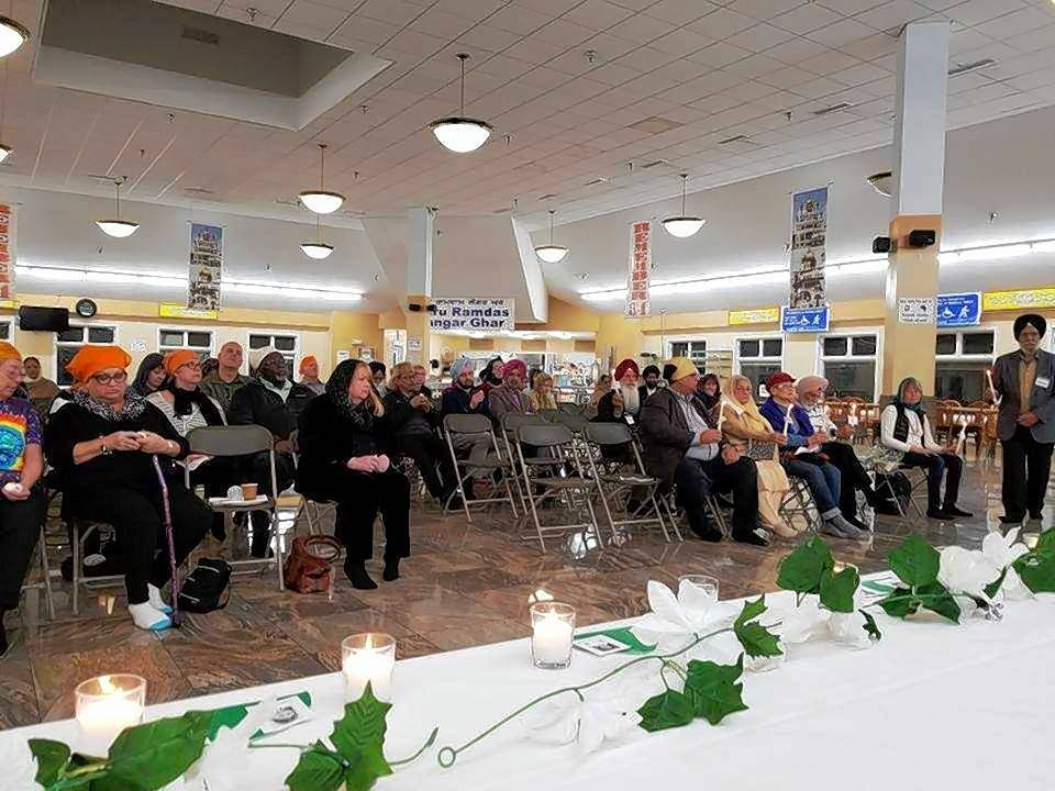 The Sikh Religious Society in partnership with NWSOFA organized an interfaith candlelight vigil in remembrance of the Sandy Hook Elementary School shooting victims. This observance of the fifth anniversary of the tragedy was part of #EndGunViolence nationwide events.